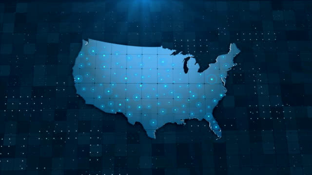 4k usa map links 4k with full background details - geographical locations stock videos & royalty-free footage