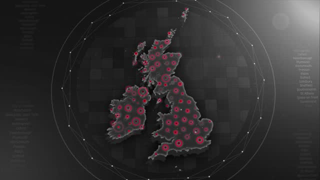 4k uk map links 4k with full background details - government minister stock videos & royalty-free footage