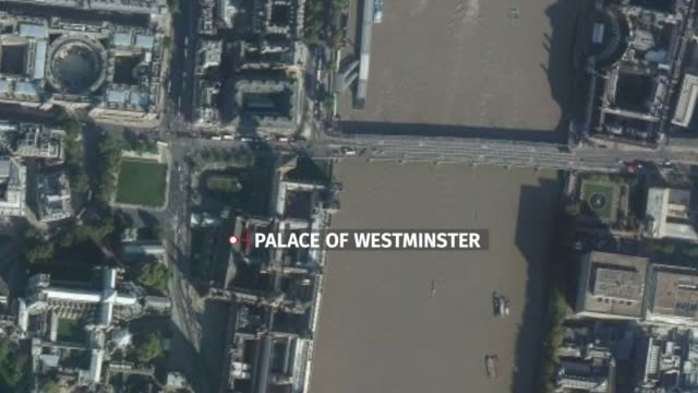 map locator of the areas involved in the westminster attacks, including the houses of parliament and westminster bridge. . scotland yard said the... - westminster bridge stock videos & royalty-free footage