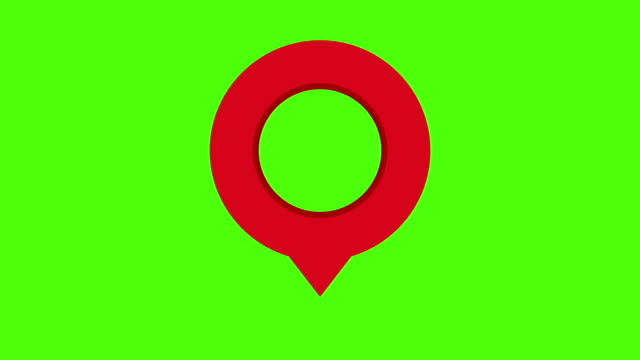 map marker green screen shadow loop red - direction stock videos & royalty-free footage