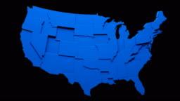 USA map - moving states loop