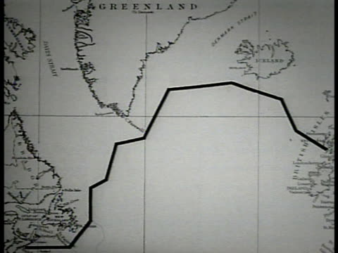 map map of atlantic ocean greenland north atlantic shipping lane - north atlantic ocean stock videos & royalty-free footage