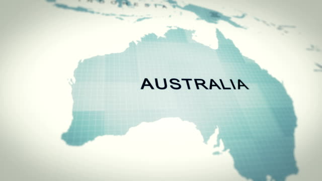 4k map of australia - map stock videos & royalty-free footage