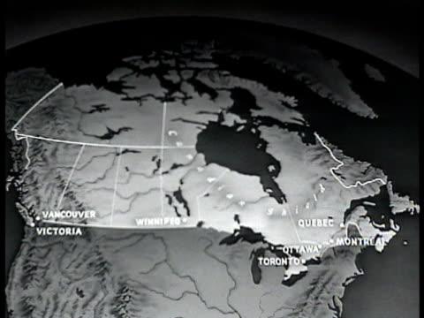 vídeos y material grabado en eventos de stock de map of canada. - narrar
