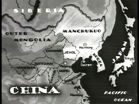 map map of china amp manchukuo highlighting provinces below manchukuo - 1935 stock videos and b-roll footage