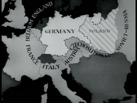map map of countries surrounding germany - poland stock videos & royalty-free footage