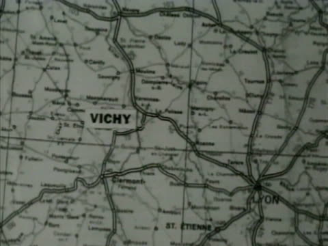 Map Of France Vichy Stock Footage Video Getty Images