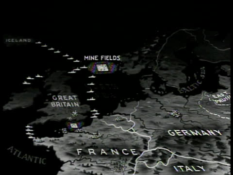 map of great britain animated english fleets mine fields. - 1939 stock videos & royalty-free footage