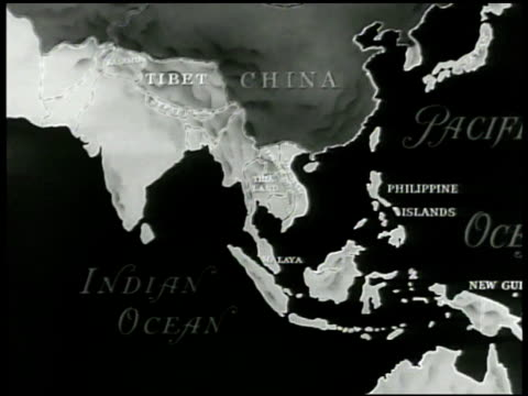 map map of india marking six free asiatic countries india borneo indonesia burma philippine islands ceylon - indonesia map stock videos & royalty-free footage