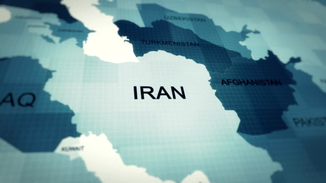 4k map of iran - global economy stock videos & royalty-free footage