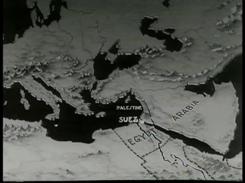 map of line running through suez canal, south africa, egypt, arabia. - suez canal stock videos & royalty-free footage