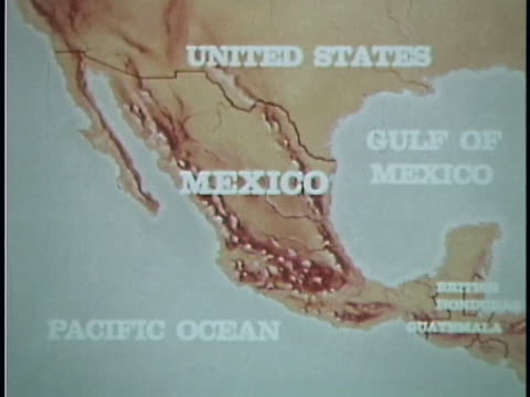 1961 map of mexico - north america stock videos & royalty-free footage