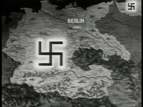 map map of nazi swastika germany - nazi swastika stock videos and b-roll footage