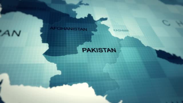 4k map of pakistan - pakistan stock videos & royalty-free footage