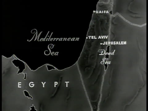 map of palestine highlighting jewish settlements. - judaism stock videos & royalty-free footage