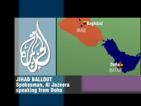 map of region & jihad ballout phono interview sot - this decision was unacceptable, not warranted - it flies in face of iraqi authorities saying that... - orthographic symbol stock videos & royalty-free footage