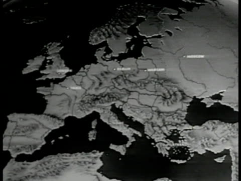 MAP Map of Russia animating Russian expansion over Europe Soviet Union