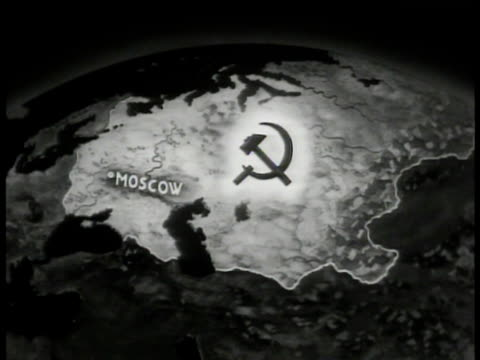 stockvideo's en b-roll-footage met map of russia soviet union logo. - reportage afbeelding