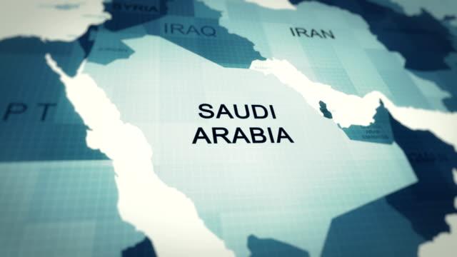 4k map of saudi arabia - saudi arabia stock videos & royalty-free footage