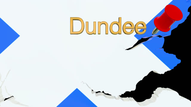 map of scotland with alpha channel and 3d map pin highlighting the location of dundee - dundee scotland stock videos & royalty-free footage