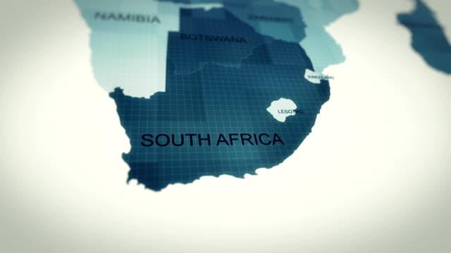 vídeos de stock, filmes e b-roll de 4k mapa da áfrica do sul - áfrica meridional