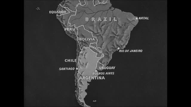 map of south america, argentina expansion towards brazil. - argentina stock videos & royalty-free footage
