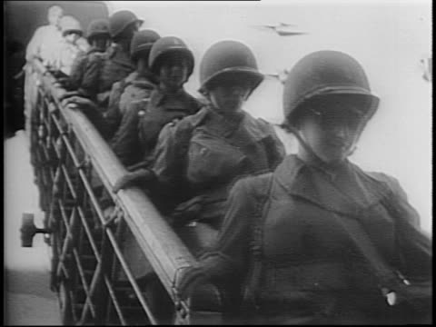map of sydney / ship arriving in australia with women waving / women's army corp members march down gangplank and onto dock as captain blanche p... - womens army corps stock videos & royalty-free footage