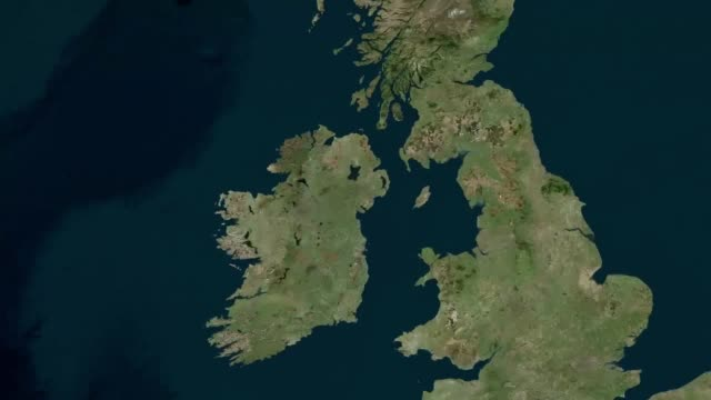 map of the mourne mountains where an emergency operation is under way after 40 army cadets aged between 12 and 17 have got into difficulties - map stock videos & royalty-free footage