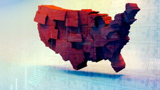 usa map, republicans perspective - partito repubblicano degli usa video stock e b–roll