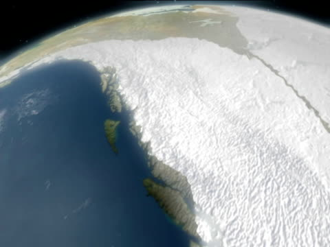 map showing deglaciation of north america at end of ice age - digital animation stock videos & royalty-free footage