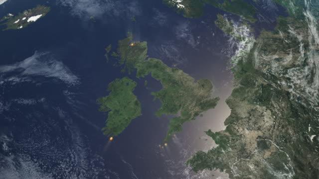 map showing minke whale sightings in uk waters - uk stock videos & royalty-free footage