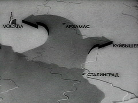 map showing the german invasion officiers squatting and looking at map at the defence of stalingrad audio / russia - 1941 stock videos & royalty-free footage