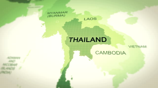 map thailand - thailand stock videos & royalty-free footage