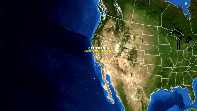 california map usa - earth zoom - california stock videos & royalty-free footage