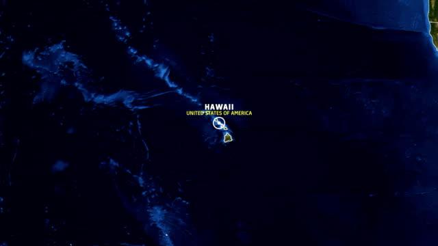 hawaii map usa - earth zoom - hawaii islands stock videos & royalty-free footage