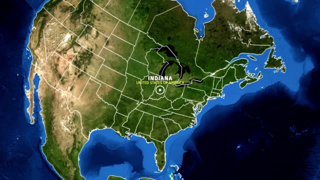 INDIANA Map USA - Earth Zoom