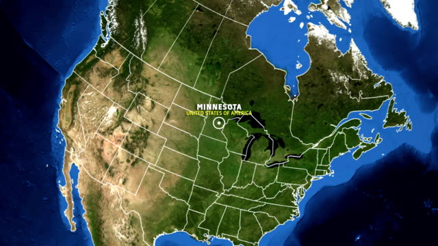 minnesota map usa - earth zoom - minnesota stock videos & royalty-free footage