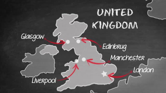 uk map - europe stock videos & royalty-free footage