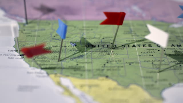 stockvideo's en b-roll-footage met usa map - kaart