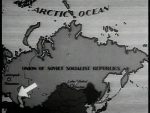 ussr map w/ arrow to caucasus - 1935 stock videos and b-roll footage