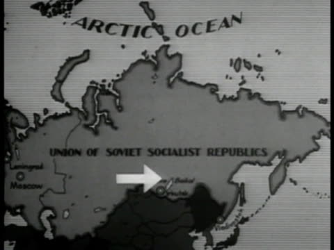 ussr map w/ arrow to siberia - 1935 stock videos and b-roll footage