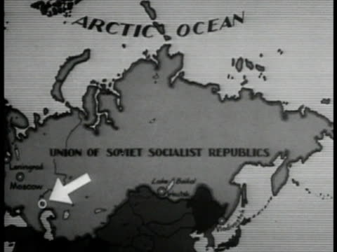USSR map w/ arrow to THE