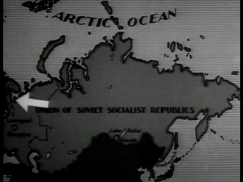 ussr map w/ arrow west to white - 1935 stock videos and b-roll footage