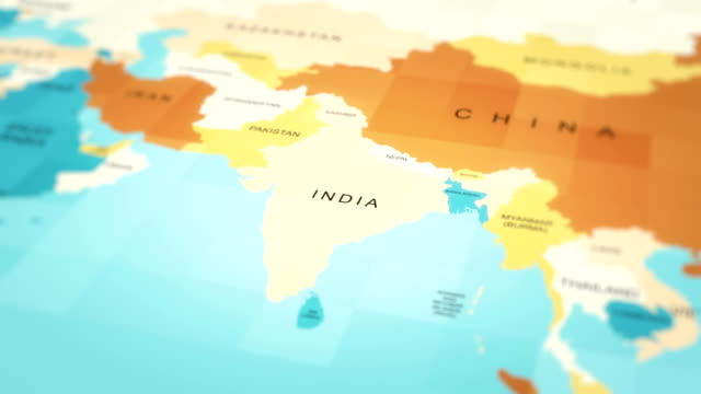 map, world map, asia (india) - india politics stock videos & royalty-free footage