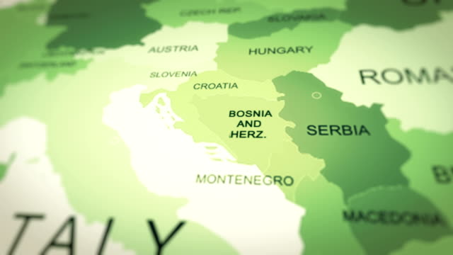 map, world map, bosnia and herzegovina - bosnia and hercegovina stock videos & royalty-free footage