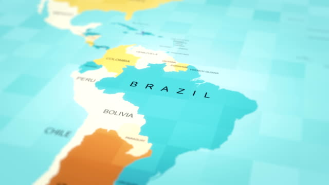 map, world map, brazil - latin america stock videos & royalty-free footage