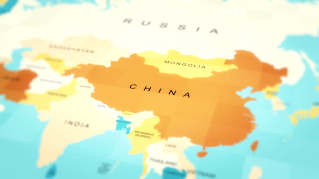 map, world map, china - global politics stock videos & royalty-free footage