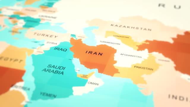 map, world map, iranian - iran stock videos & royalty-free footage