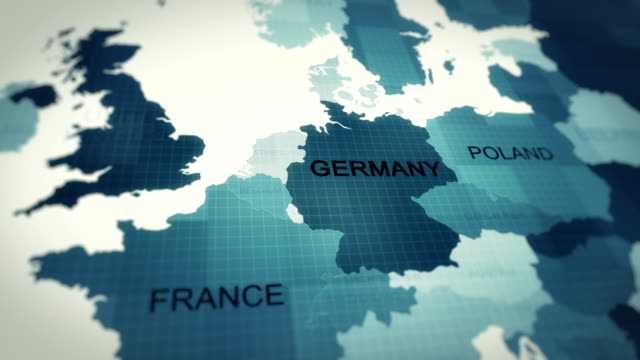 4k maps animation, world map germany - europa continente video stock e b–roll