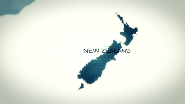 4k maps animation, world map new zeland - oceania stock videos & royalty-free footage